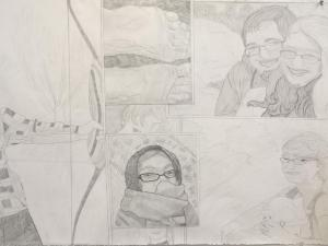 Self Portrait Collage Drawing